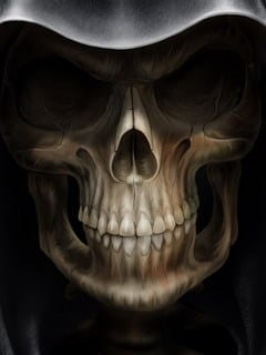Face Of Skull Mobile Wallpaper