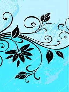 Floral Vine Mobile Wallpaper