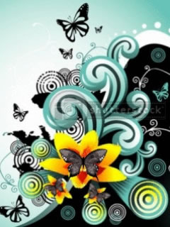 Butterfly And Flower Mobile Wallpaper