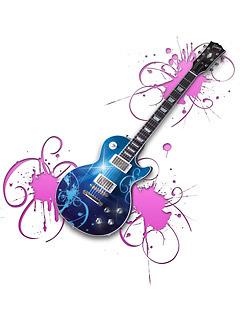 Colour Guitar Mobile Wallpaper