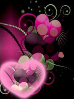 Puple Heart Mobile Wallpaper