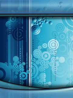 Blue Circle Mobile Wallpaper