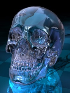 Glass Skull Mobile Wallpaper