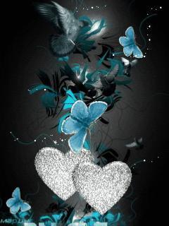 Butterfly Heart Mobile Wallpaper