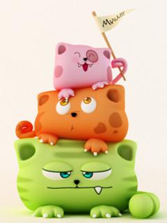Cute Cats Mobile Wallpaper