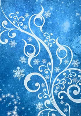 Blue Winter Apple IPhone  Mobile Wallpaper