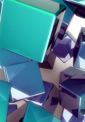 3D Cubes IPhone Mobile Wallpaper