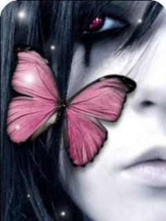 Pink Emo Girl Mobile Wallpaper