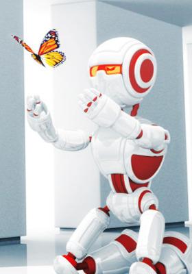 Robot Love  Mobile Wallpaper