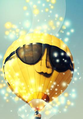 Smiley Balloon IPhone Mobile Wallpaper