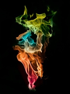 Rainbow Fire Mobile Wallpaper