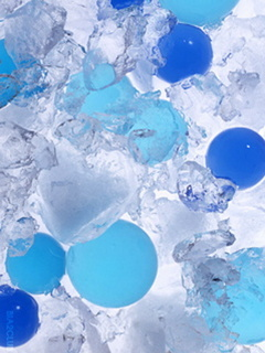 Ice And Balls 3d Mobile Wallpaper