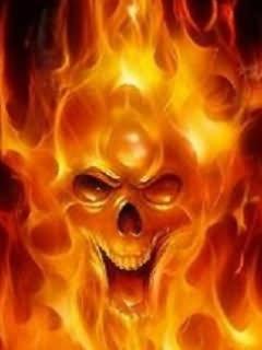 Skull Fire Mobile Wallpaper
