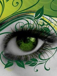 Colour And Eye Mobile Wallpaper