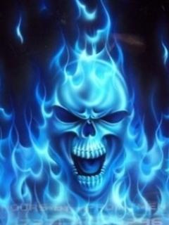 Blue Skull Mobile Wallpaper