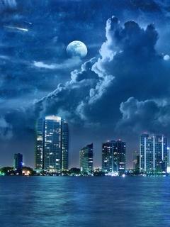 City At Night Mobile Wallpaper