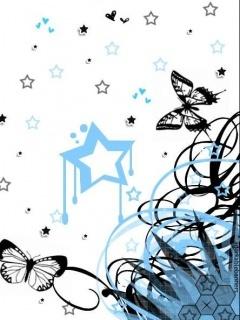 Art Butterfly Mobile Wallpaper