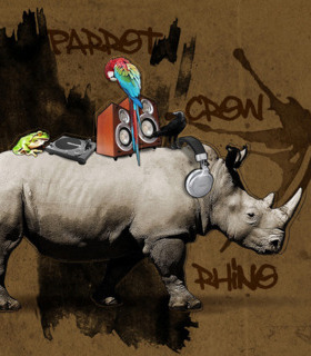Rhino Dj Mobile Wallpaper