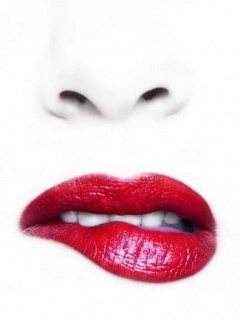 Red Hot Lips Mobile Wallpaper