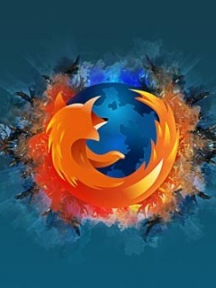 Firefox Abstract Mobile Wallpaper