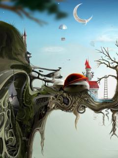 Tree World Mobile Wallpaper