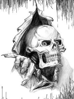 Scary Skull Mobile Wallpaper