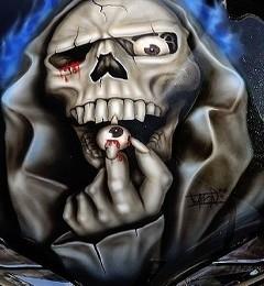 Skull Eye Mobile Wallpaper