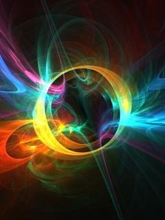 Rainbow Zap Mobile Wallpaper
