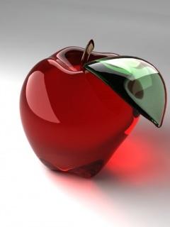 Glass Apple Mobile Wallpaper