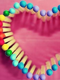 Color Match Heart Box Mobile Wallpaper