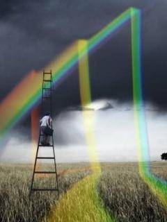 Broekn Rainbow Mobile Wallpaper