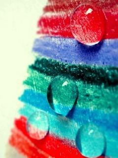 Big Drops Over Color Mobile Wallpaper
