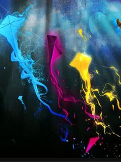 Colors Kites Mobile Wallpaper