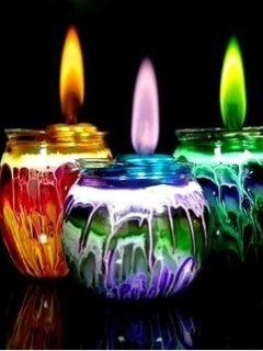 Colors Candles Mobile Wallpaper