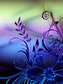 3D Color Flower Mobile Wallpaper