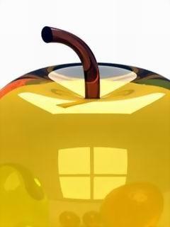 Orange Apple Mobile Wallpaper
