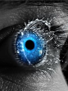 Splash Blue Eye Mobile Wallpaper