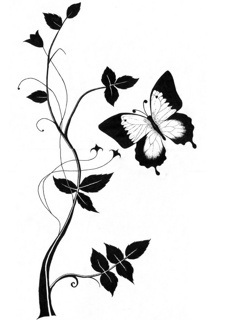 Black Butterfly Mobile Wallpaper