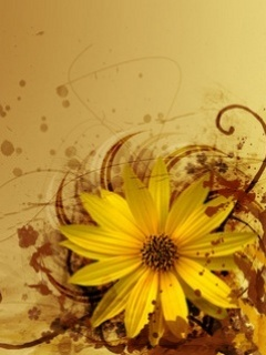 Yellow Flower Mobile Wallpaper