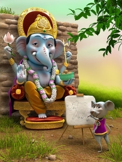 Jay Shri Ganesh Mobile Wallpaper