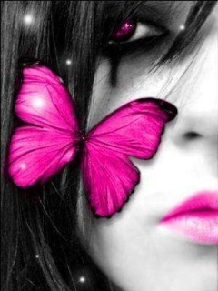 Face Butterfly Mobile Wallpaper