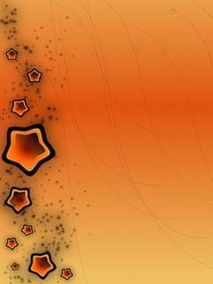 Orange Start Mobile Wallpaper