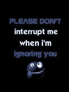 Dont Interrupt Mobile Wallpaper