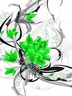 Green Flower Mobile Wallpaper