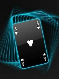 Neon Ace Card Mobile Wallpaper