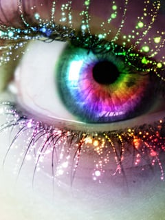 Eye Colors Abstract Mobile Wallpaper