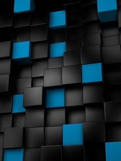 Blue Cubes Mobile Wallpaper