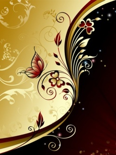 Gold Brown Mobile Wallpaper