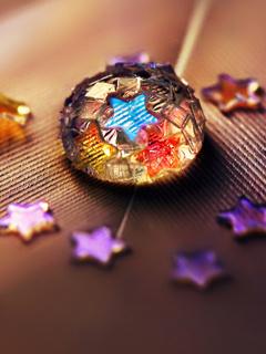 Star Glitter Drop Mobile Wallpaper