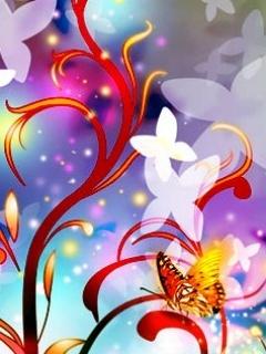 3D Flowers Mobile Wallpaper